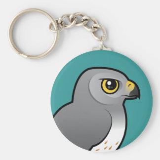 Northern Harrier male Basic Round Button Keychain