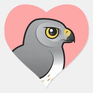 Northern Harrier male Heart Sticker