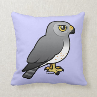 Northern Harrier male Throw Pillow