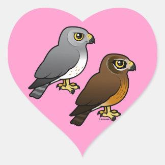 Northern Harrier pair Heart Sticker