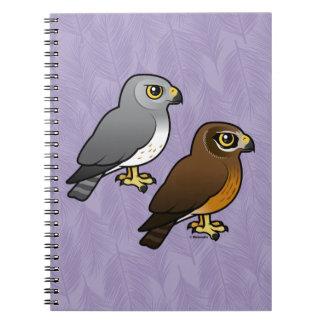 Northern Harrier pair Spiral Notebook