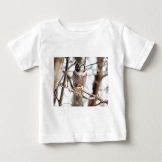 Northern Hawk Owl 3 Baby T-Shirt
