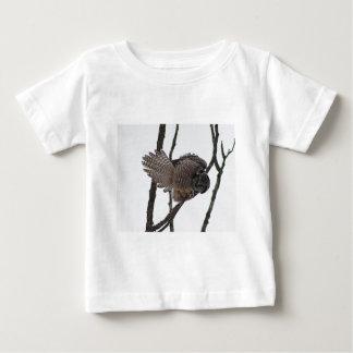 Northern Hawk Owl 6 Baby T-Shirt