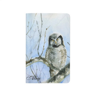 Northern hawk Owl  calendar 2015 2016 Journal