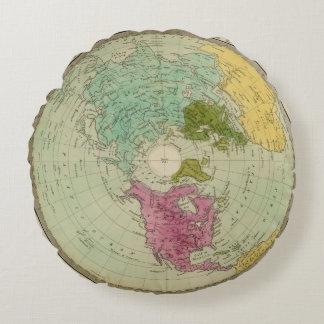 Northern Hemisphere 4 Round Pillow