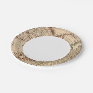 Northern Hemisphere, Arctic 7 Inch Paper Plate