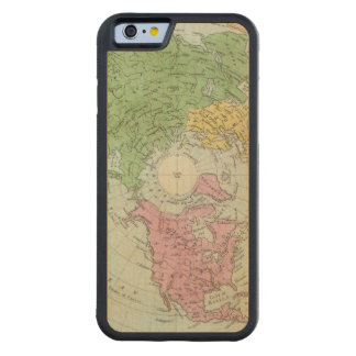 Northern Hemisphere Carved Maple iPhone 6 Bumper Case