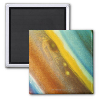 Northern Hemisphere of Saturn 2 Inch Square Magnet