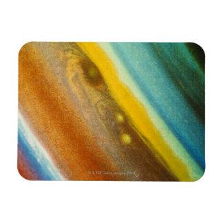 Northern Hemisphere of Saturn Rectangular Photo Magnet