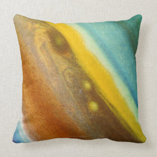 Northern Hemisphere of Saturn Throw Pillow