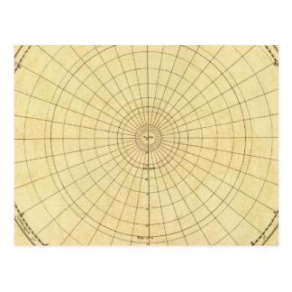 Northern Hemisphere Outline Postcard