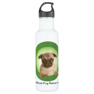 Northern Illinois Pug Rescue 24oz Water Bottle