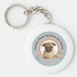 Northern Illinois Pug Rescue keychain