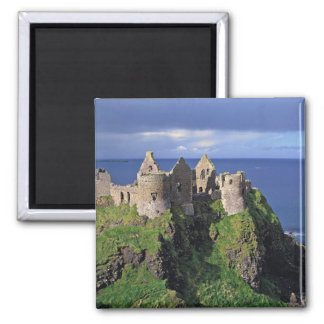 Northern Ireland, County Antrim, Dunluce 2 Inch Square Magnet