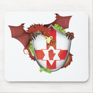 Northern Ireland Dragon Shield Mouse Pad