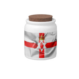 Northern Ireland Flag Candy Jar