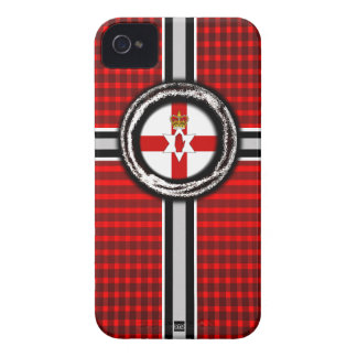 Northern Ireland Flag Emboss Red iPhone 4 Case