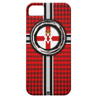 Northern Ireland Flag Emboss Red iPhone 5 Case