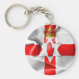 Northern Ireland Flag Basic Round Button Keychain