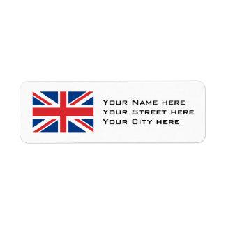 Northern Ireland Flag Return Address Label