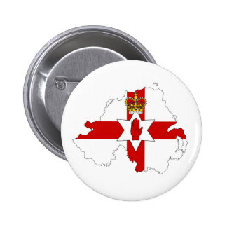 northern ireland flag map united kingdom country s pinback button