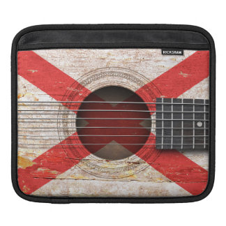 Northern Ireland Flag on Old Acoustic Guitar Sleeve For iPads