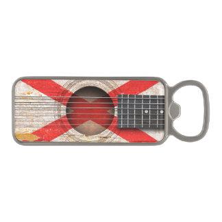 Northern Ireland Flag on Old Acoustic Guitar Magnetic Bottle Opener