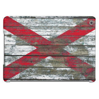 Northern Ireland Flag on Rough Wood Boards Effect iPad Air Covers