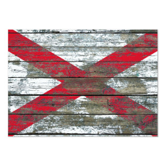 Northern Ireland Flag on Rough Wood Boards Effect 5x7 Paper Invitation Card