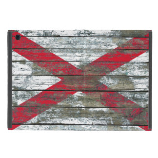 Northern Ireland Flag on Rough Wood Boards Effect iPad Mini Covers