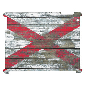 Northern Ireland Flag on Rough Wood Boards Effect Case For The iPad