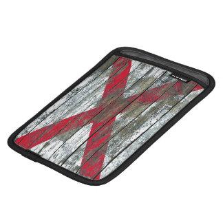 Northern Ireland Flag on Rough Wood Boards Effect iPad Mini Sleeve