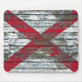 Northern Ireland Flag on Rough Wood Boards Effect Mouse Pad