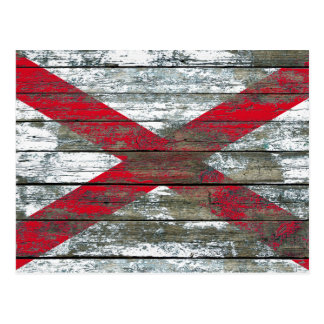 Northern Ireland Flag on Rough Wood Boards Effect Postcard