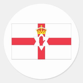 Northern Ireland Flag Classic Round Sticker