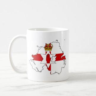 NORTHERN IRELAND MAP CLASSIC WHITE COFFEE MUG