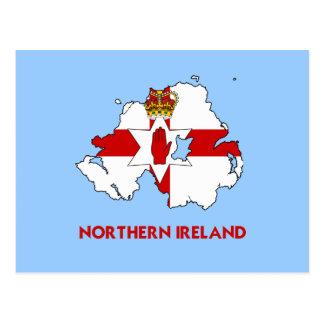 NORTHERN IRELAND MAP POST CARD