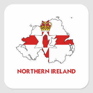 NORTHERN IRELAND MAP STICKERS