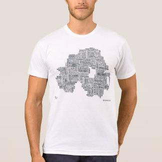 Northern Ireland Placenames Map T-Shirt