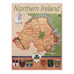 Northern Ireland retro Postcard