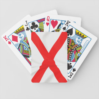 Northern Ireland Saltire of St Patrick Bicycle Poker Cards