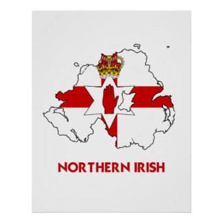 NORTHERN IRISH MAP POSTER