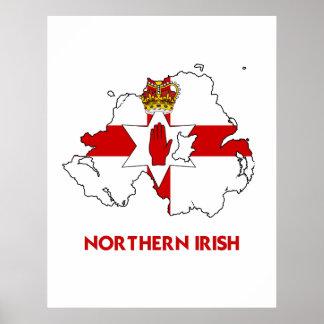 NORTHERN IRISH MAP PRINT