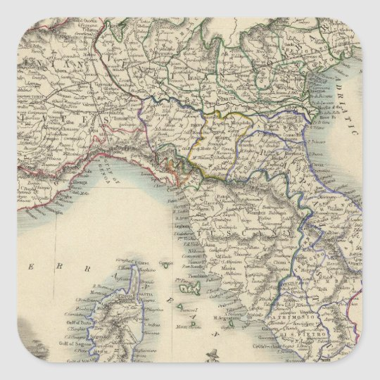 Northern Italy 4 Square Sticker