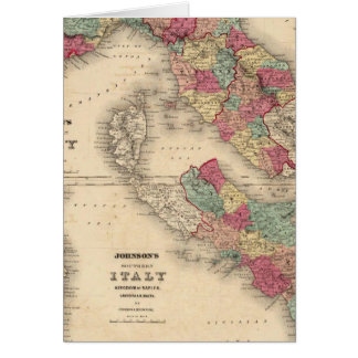 Northern Italy Southern Italy Card
