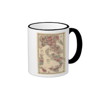 Northern Italy Southern Italy Ringer Coffee Mug