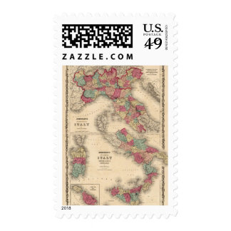 Northern Italy Southern Italy Stamp