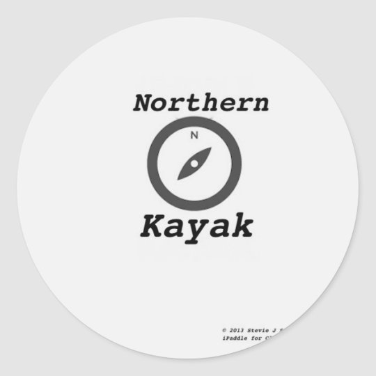 northern kayak copy.jpg classic round sticker