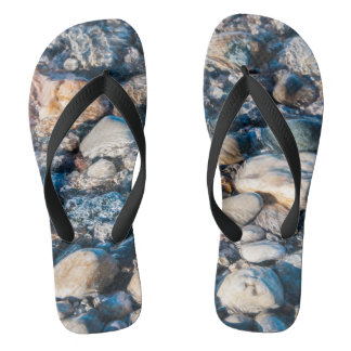Northern Lakeshore Beach Stones Flip Flops