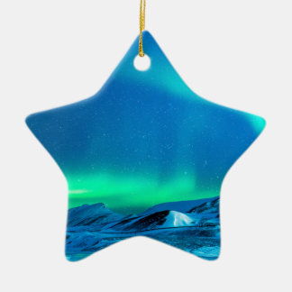 Northern Light Ceramic Ornament